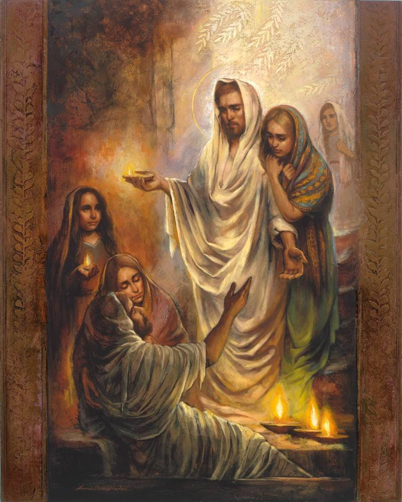 Painting of Jesus raising Lazarus from the dead.