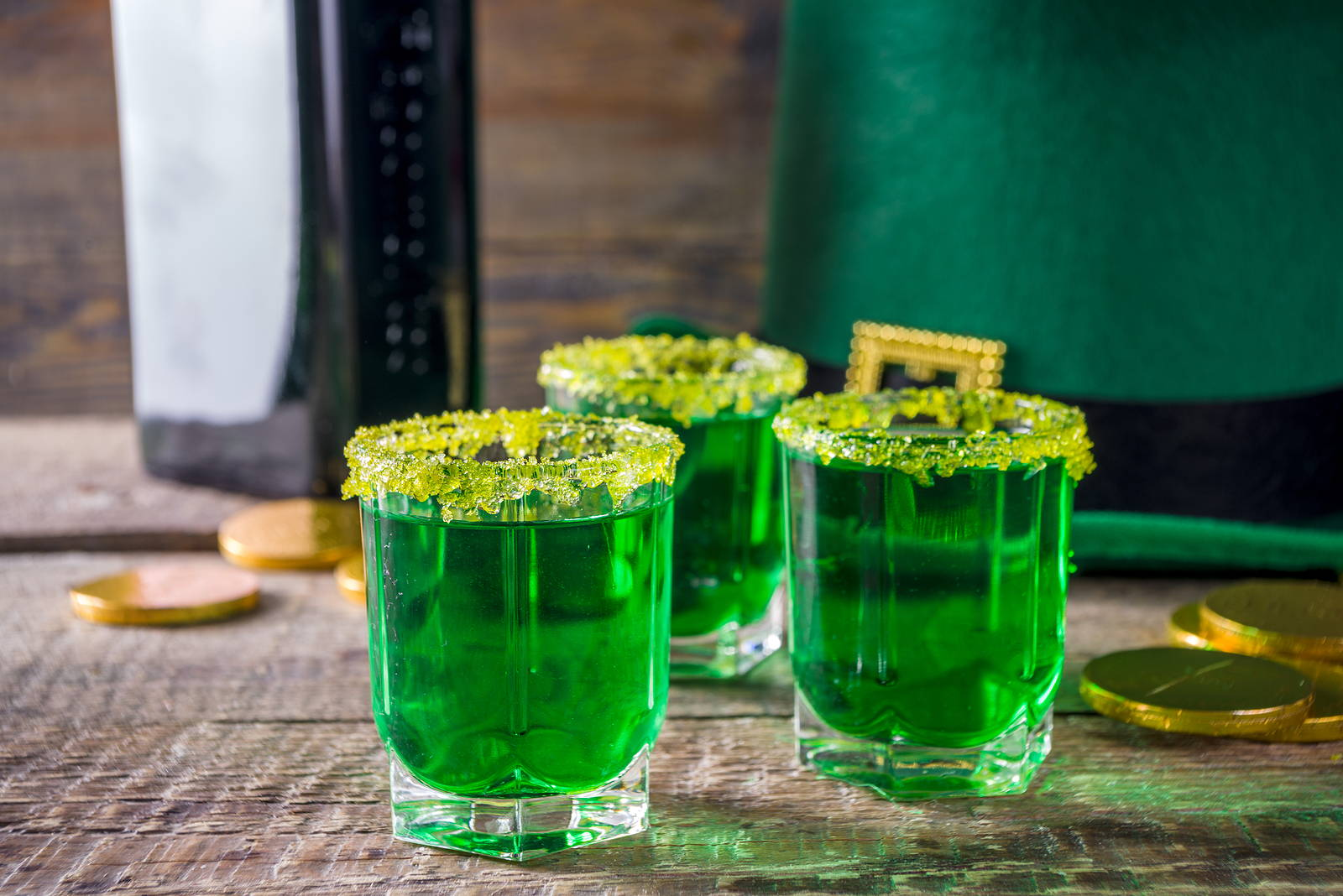 green shots st patrick's day