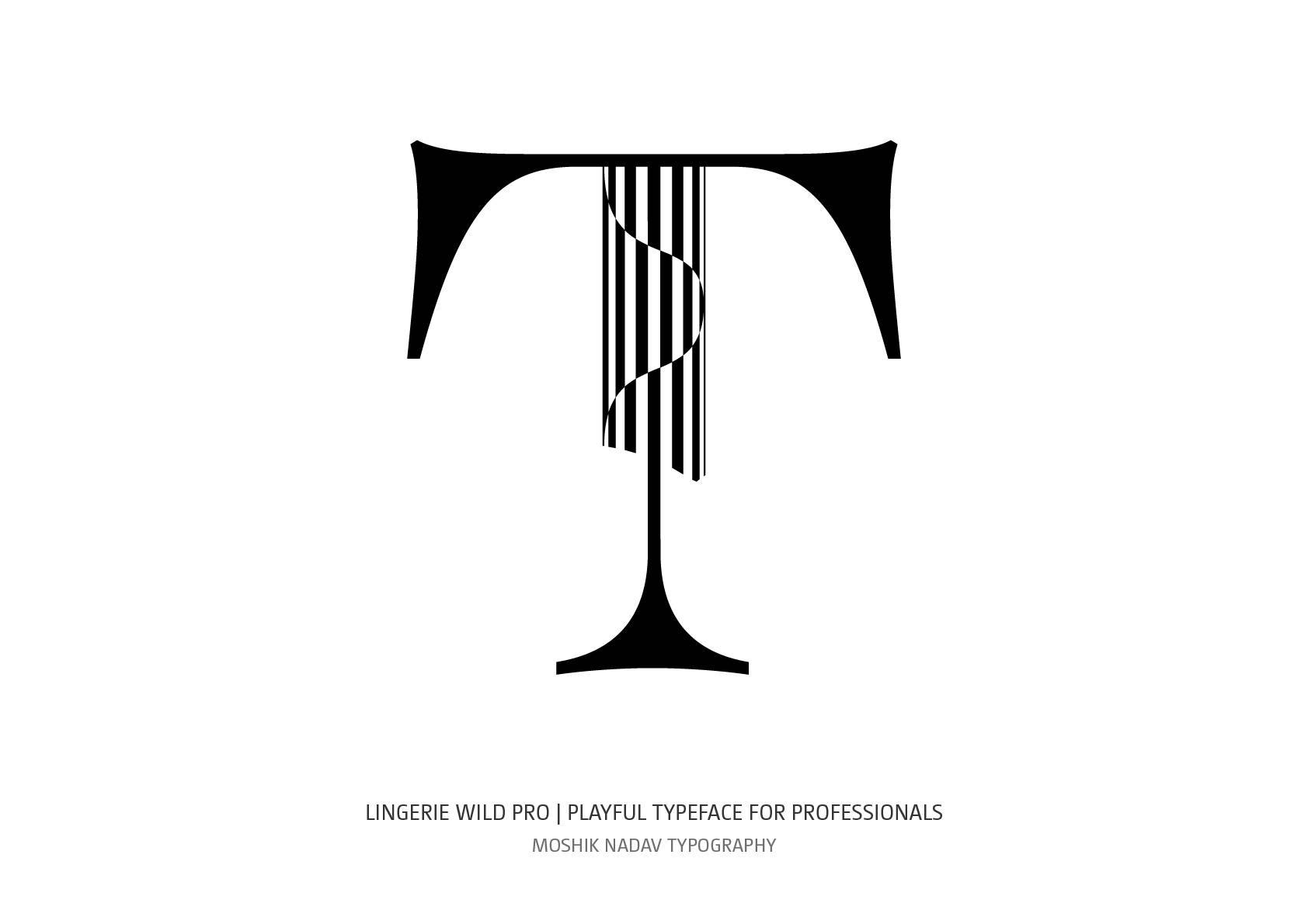 Unique Uppercase T for logos and fashion magazine layout by Moshik Nadav Typography NYC