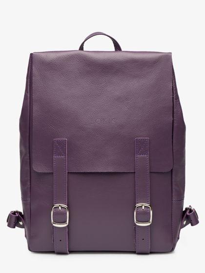 Рюкзак из кожи черничного цвета