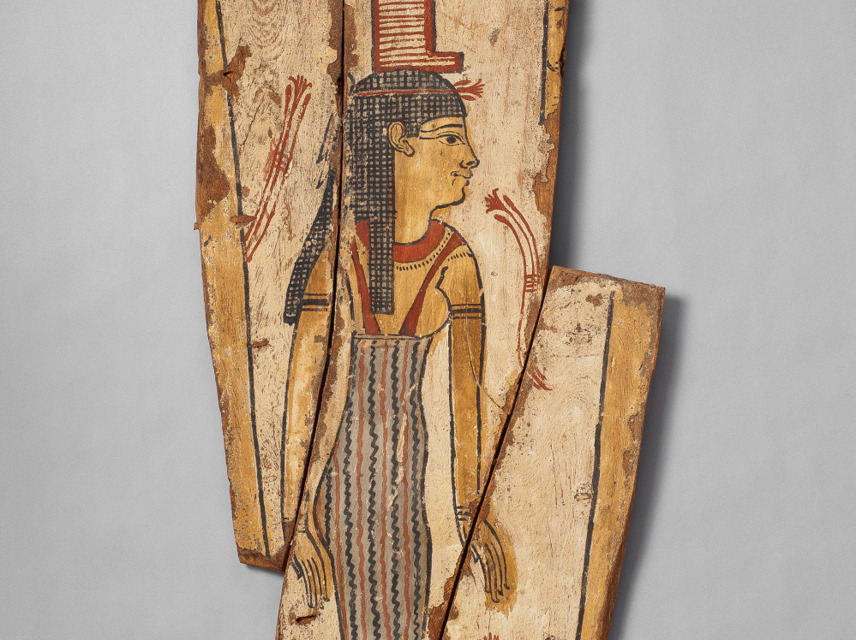 Coffin panel with Isis, Ancient Egyptian collection