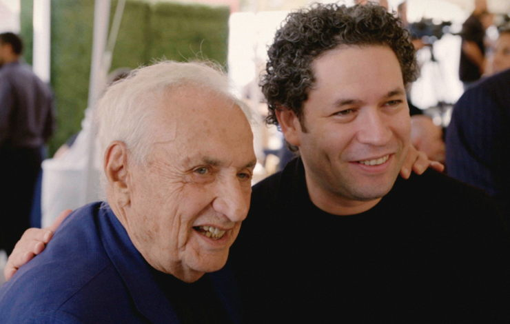 Gustavo Dudamel and architect Frank Gehry