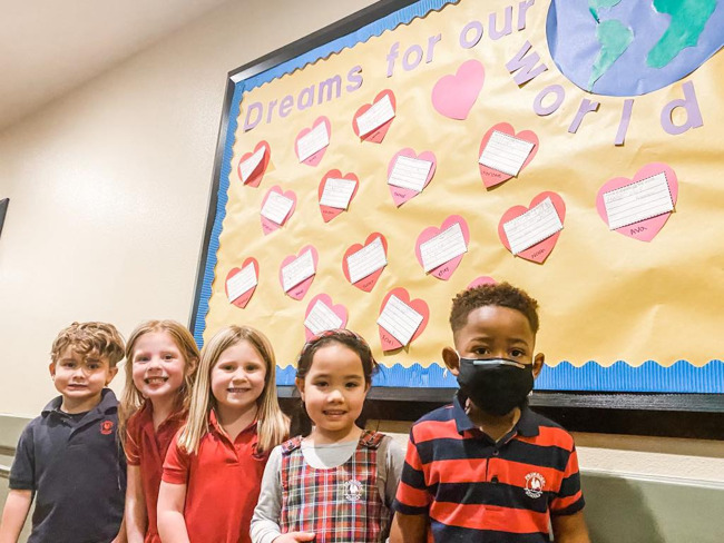 Each child shared their dream for the world, inspired by MLK, Jr.