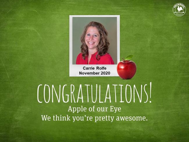 carrie rolfe november 2020 apple of our eye