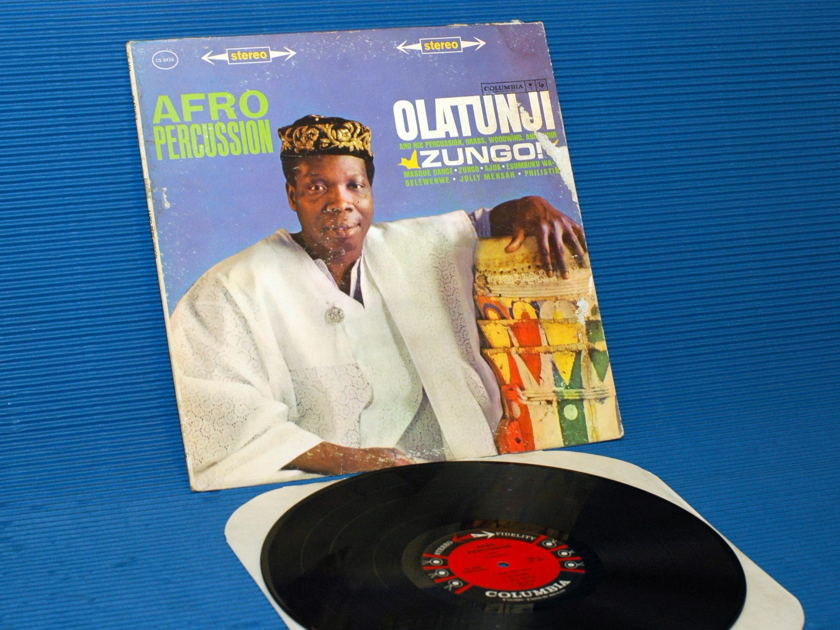 "OLATUNJI -  - ""Zungo/Afro Percussion"" -  CBS '6 Eye' 1961 1st pressing"