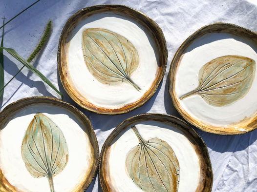 Набор керамических тарелок «Подорожник»