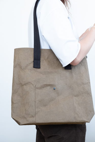 сумка шоппер из текстильного крафта, цвет тауп