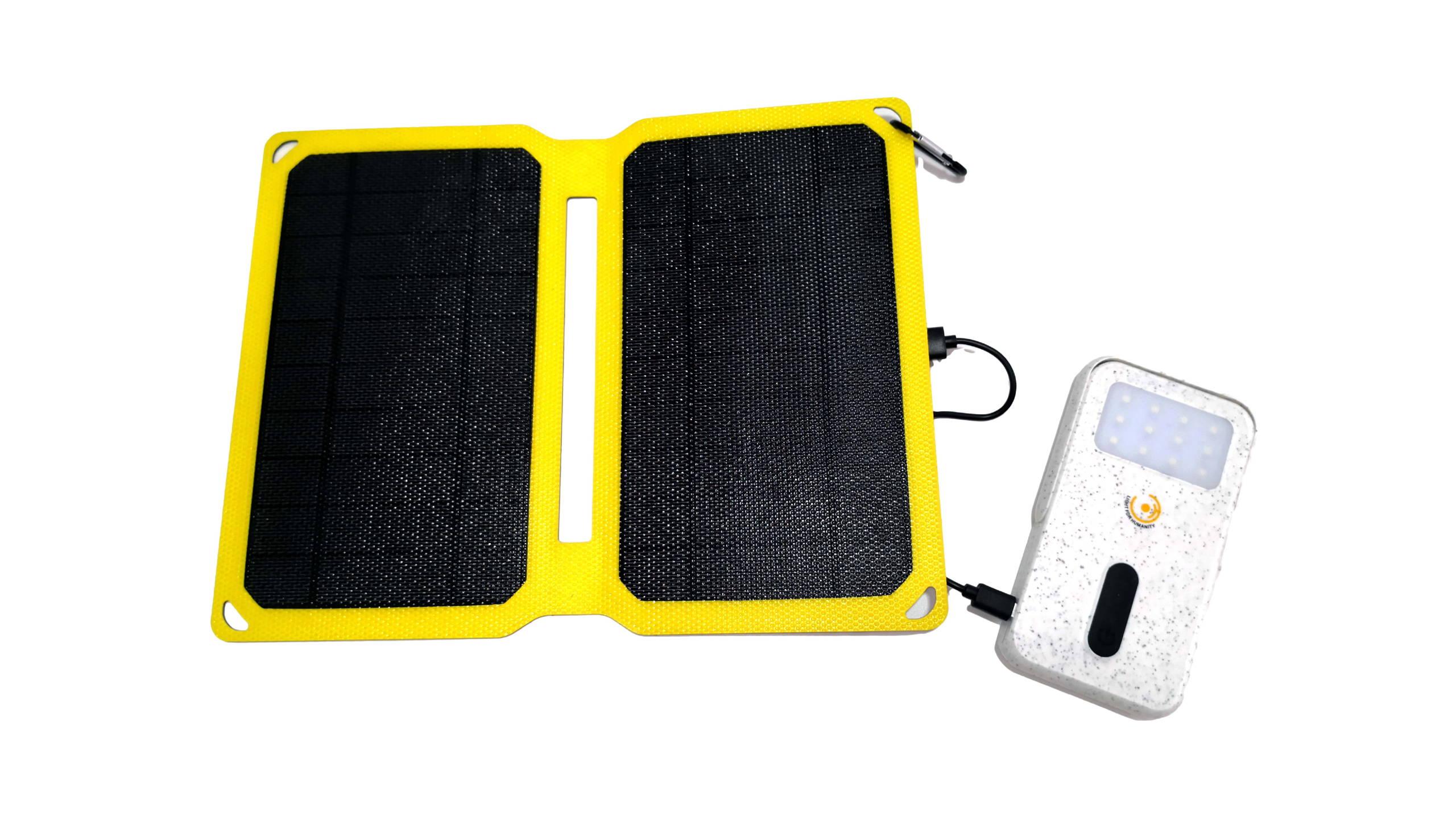 bateria externa panel solar folder solar bank