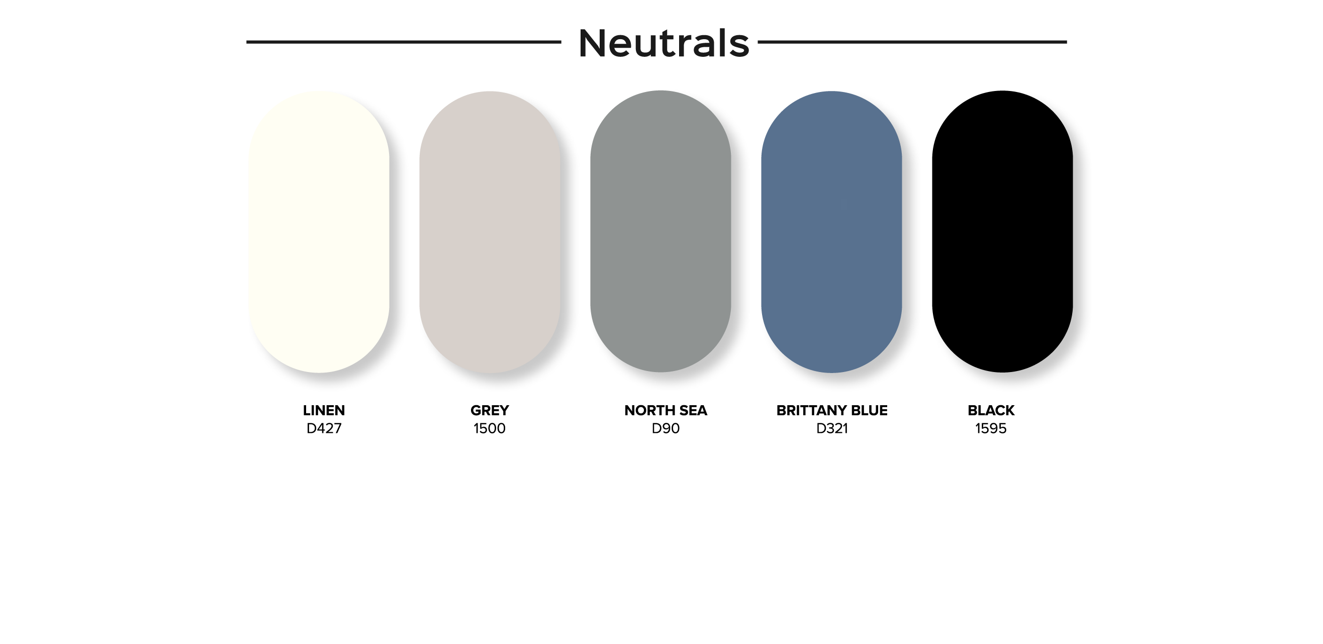 SnapCab Meet 6 Standard Panel Color Options - neutrals