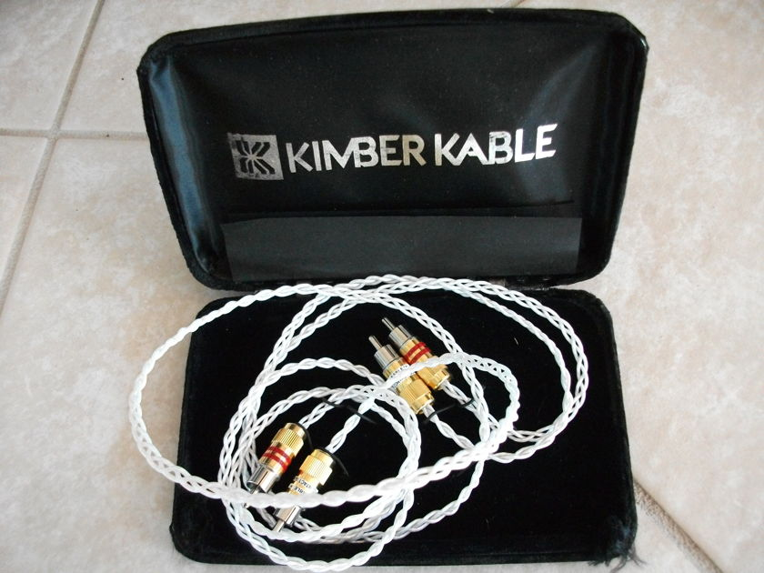 Kimber KCAG Silver 1 Meter Pair  With UltraPlate RCA's **Excellent**