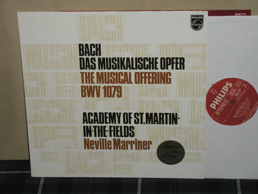 Marriner/AoStMitF - Bach Musical Offering Philips Import LP 9500