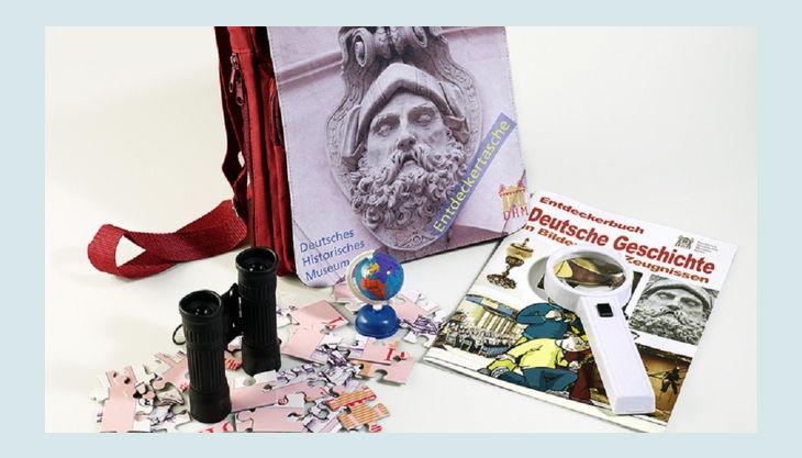 stiftung deutsches historisches museum entdeckertasche und inhalt