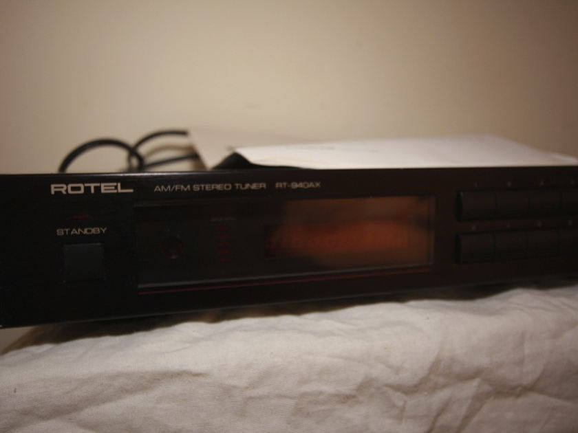 Rotel  Tuner RT 940AX  am/fm stereo tuner