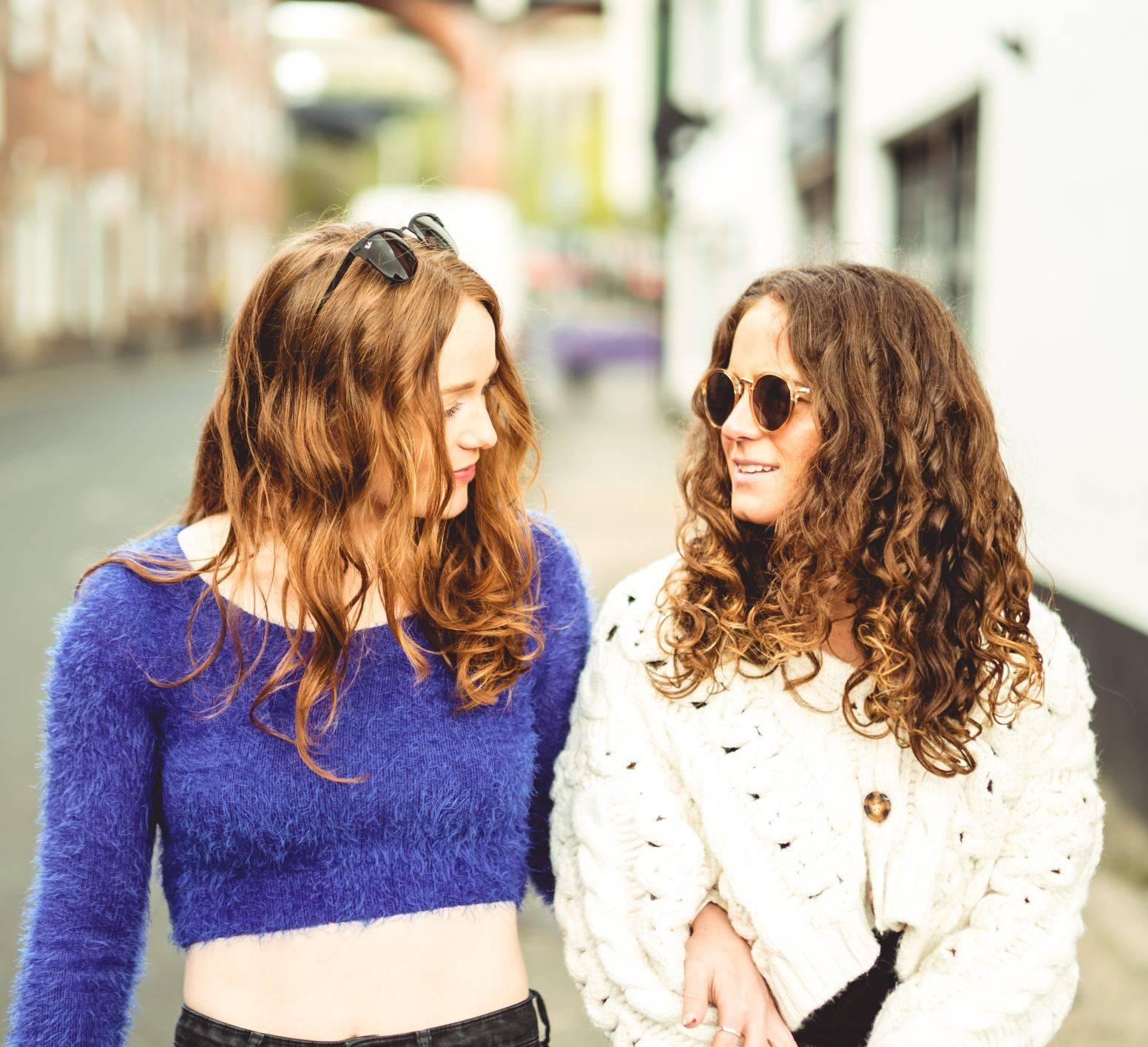 Image of two girls talking