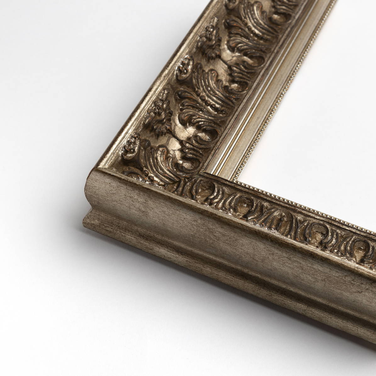 TV-Mirror Ornate Antique Pewter Frame with Pewter Inner by FRAMING TO A T