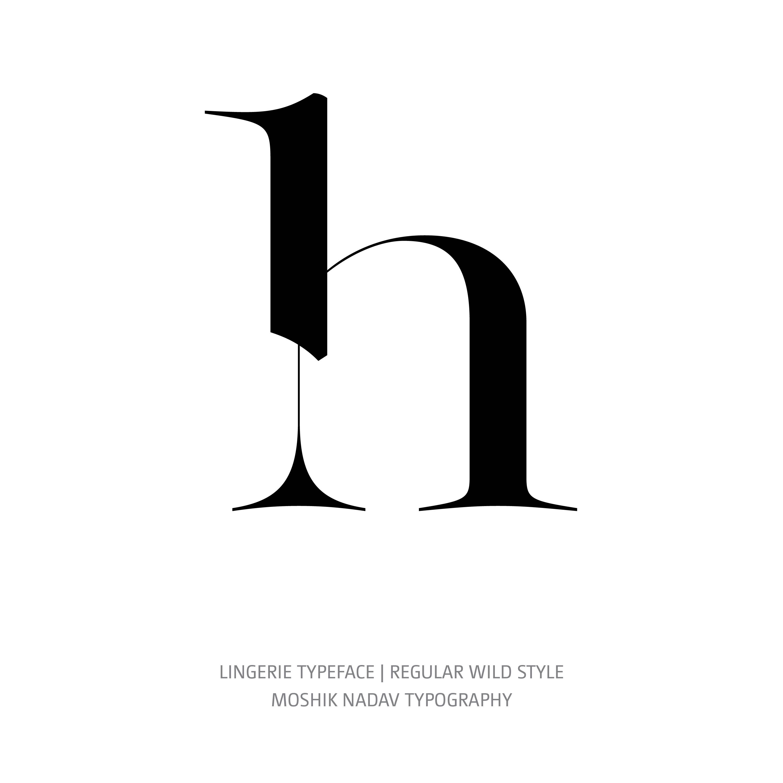 Lingerie Typeface Regular Wild h