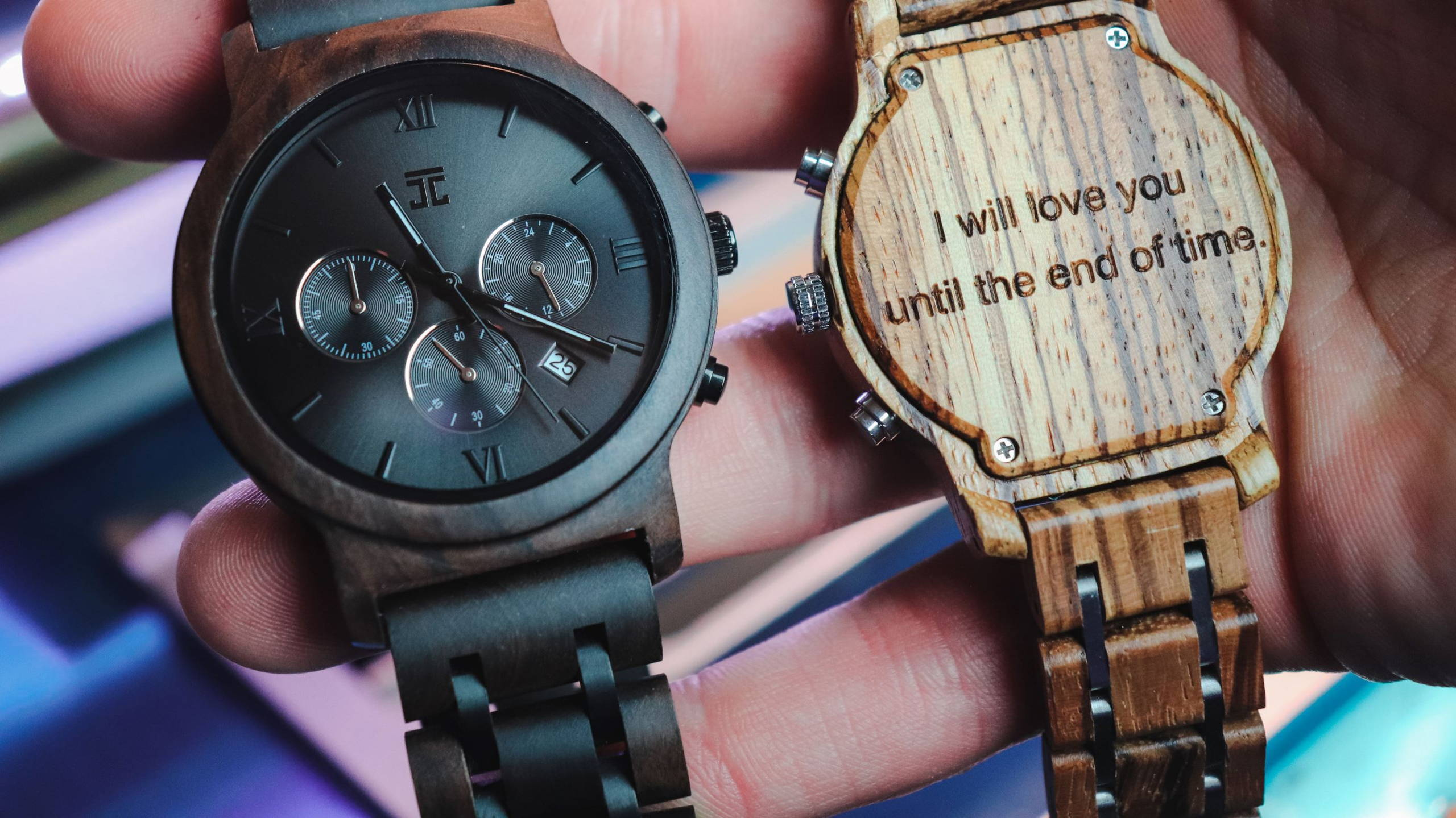 Joycoast Wooden Watches with Engravings.