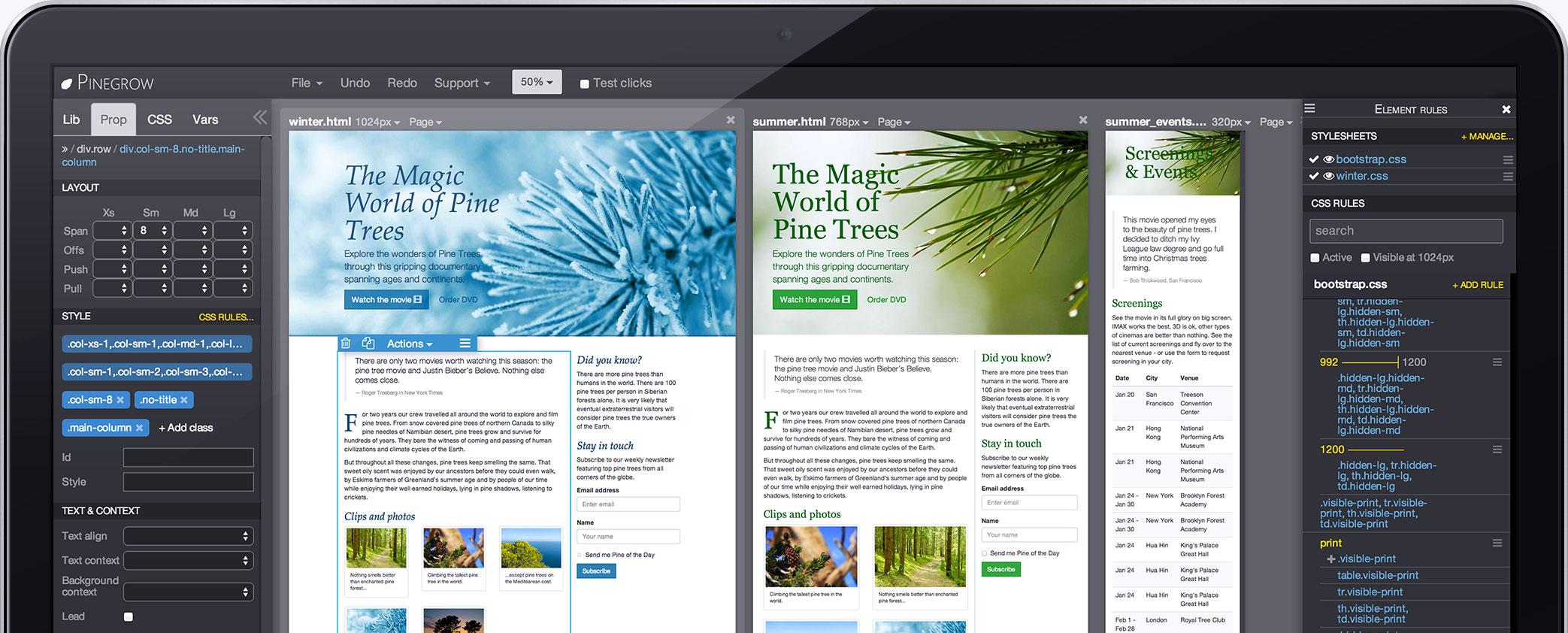 كراك برنامج pinegrow web designer