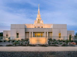 Phoenix Temple photo and entrance sign.