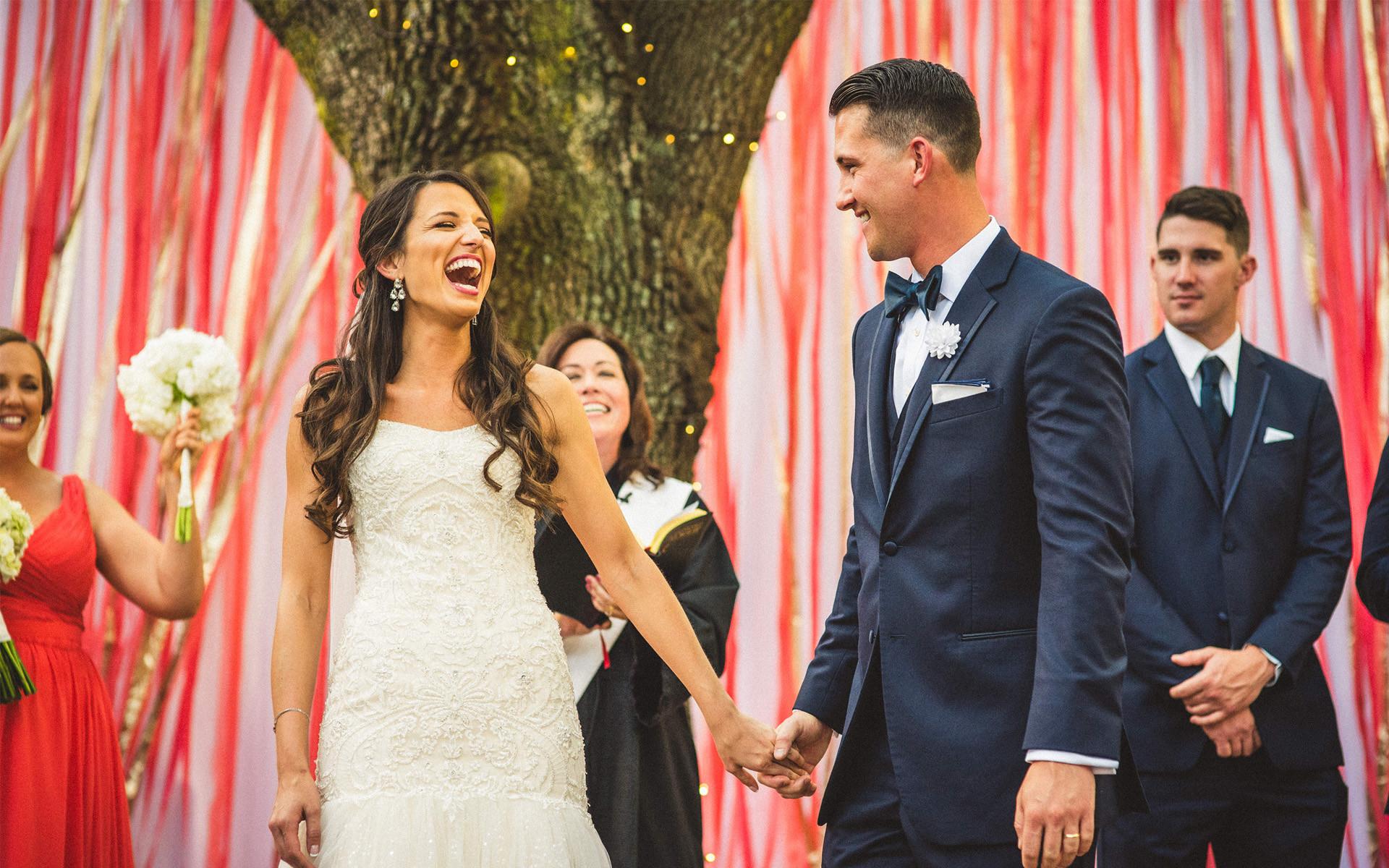 Chance meeting, epic wedding ensues