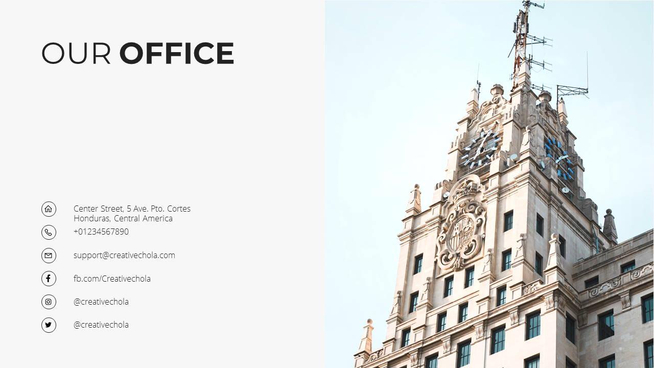 Minimal X Company Profile Presentation Template Thank You