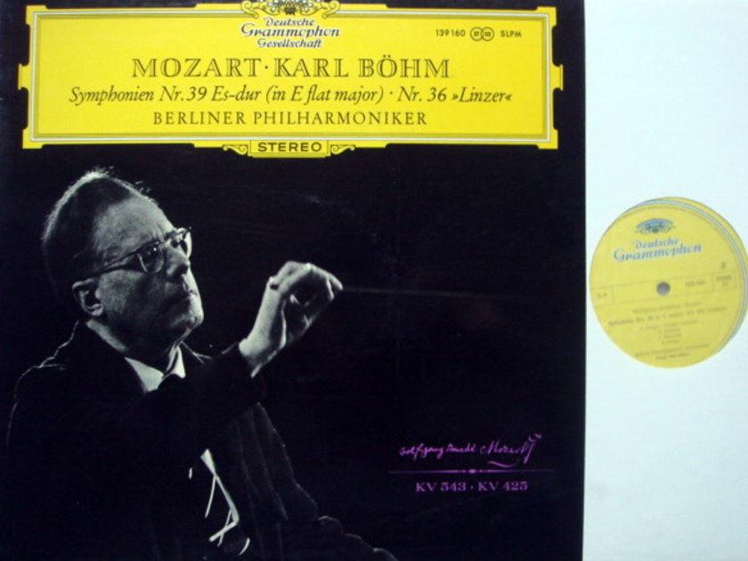 DGG / BOHM-VPO, - Mozart Symphonie No.36 & 39, NM!
