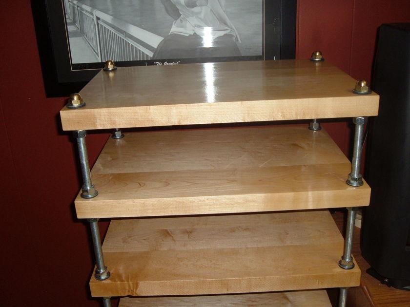 "Stereo Squares Hard Maple Audio Rack 2"" Thick Hard Maple shelves"