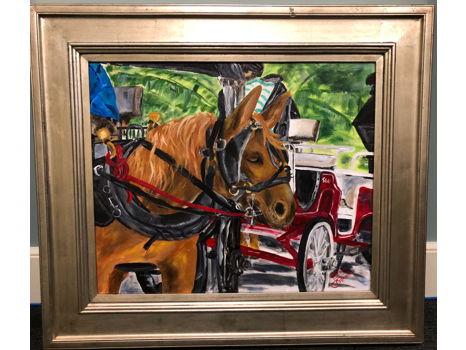 """Mule in Waiting"" Original, Framed Art"