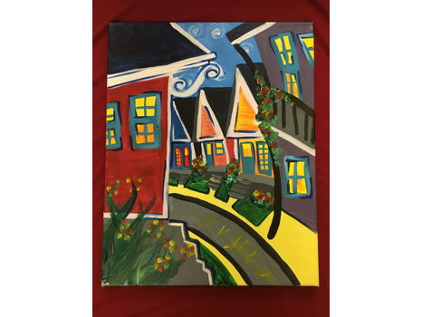 Nola Neighborhood Canvas Painting