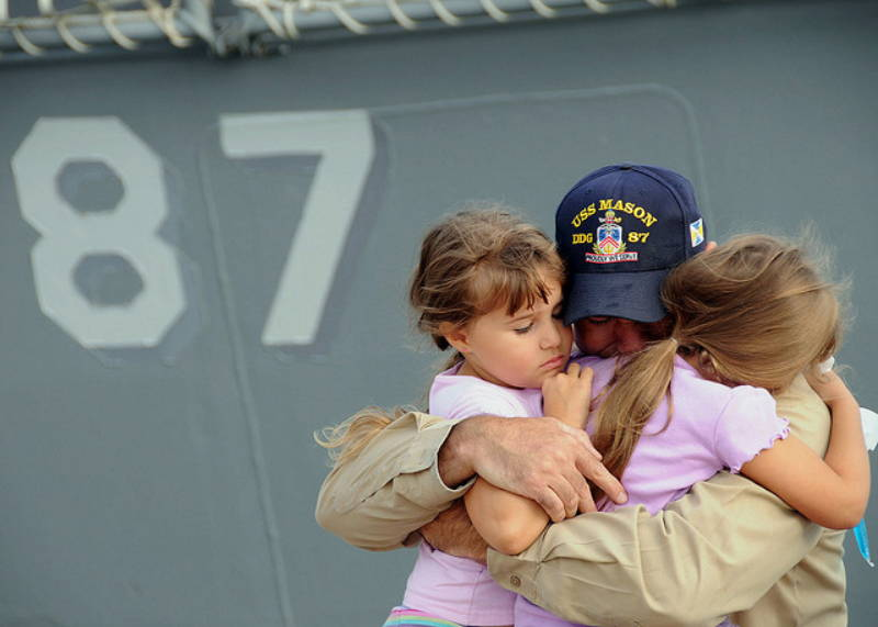 navy father and daughters