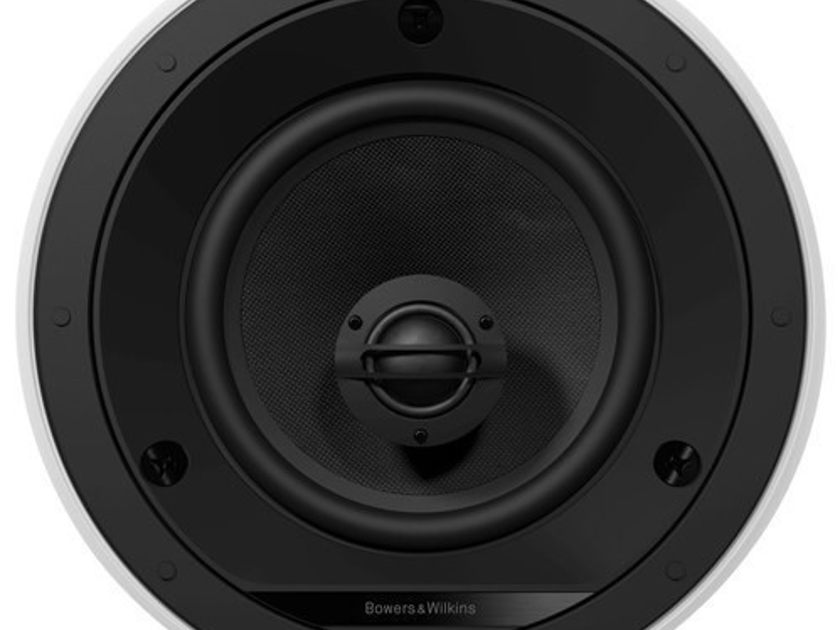 B&W CCM665 2-Way Ceiling Mount Speakers Pair White; Bowers & Wilkins (New) (3692)