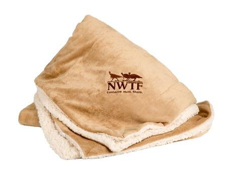 Micro Mink Sherpa Blanket 50 x 60 w/ NWTF Logo