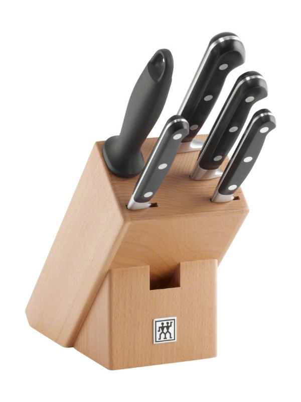 Knife Set Wood Block, 6 pcs.