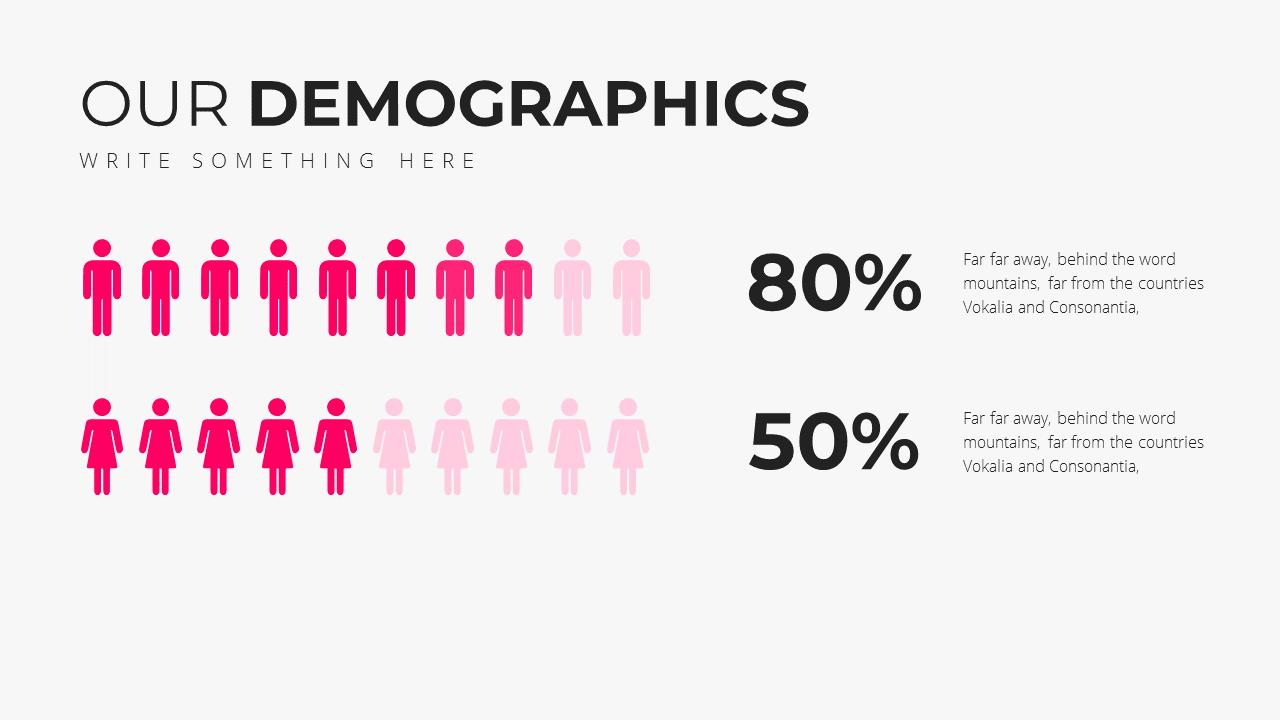 Minimal X Social Media Report Presentation Template Demographics