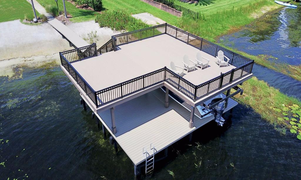 Boat Dock with Sundeck