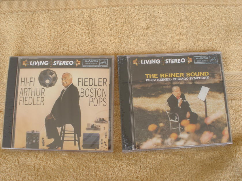 6 - RCA LIVING STEREO  - CDS 2 are SEALED