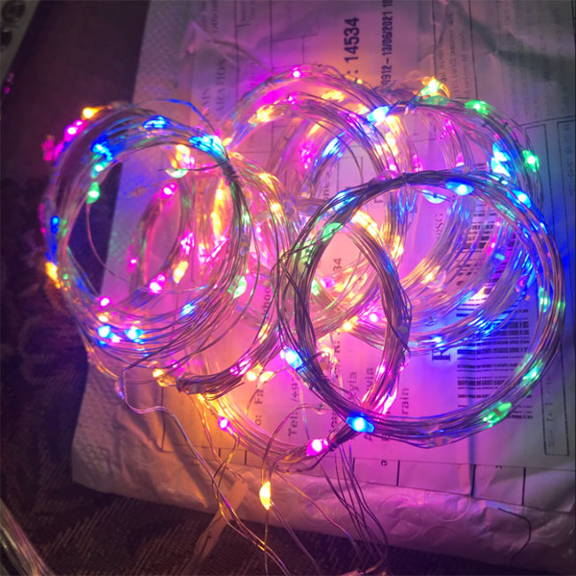 multi colored fairy lights curtain with 16 color effects and remote control