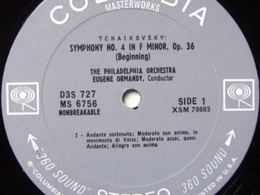 Columbia 2-EYE / EUGENE ORMANDY, - Tchaikovsky Symphony No.4, NM-!