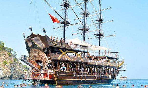 Прогулка на яхте из Анталии