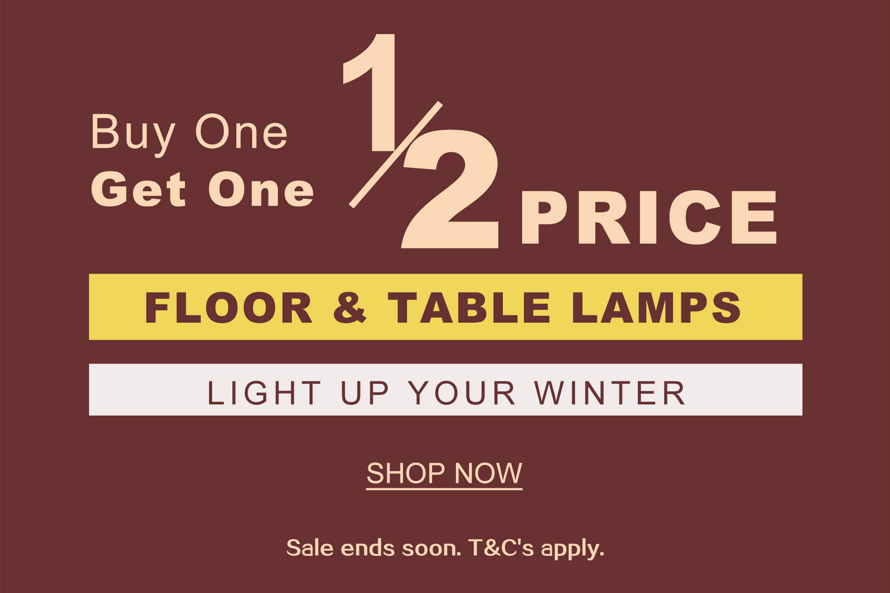 floor and table lamps promo