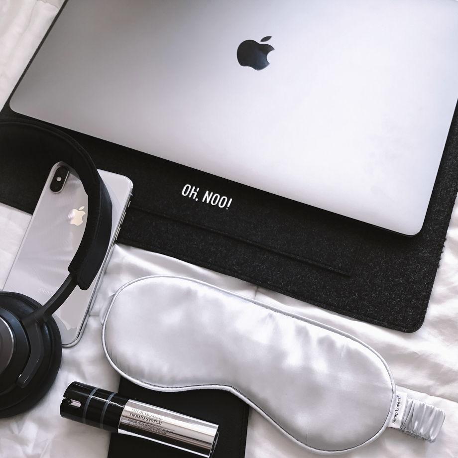 Чехол из фетра для MacBook и ноутбуков, черный, горизонтальный