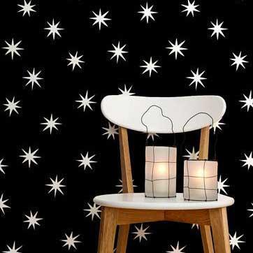 Stars modern wallpaper motif by Merenda Wallpaper