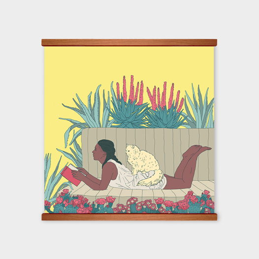 Постер «Читая Кастанеду» от Oh So Me (серия Home)