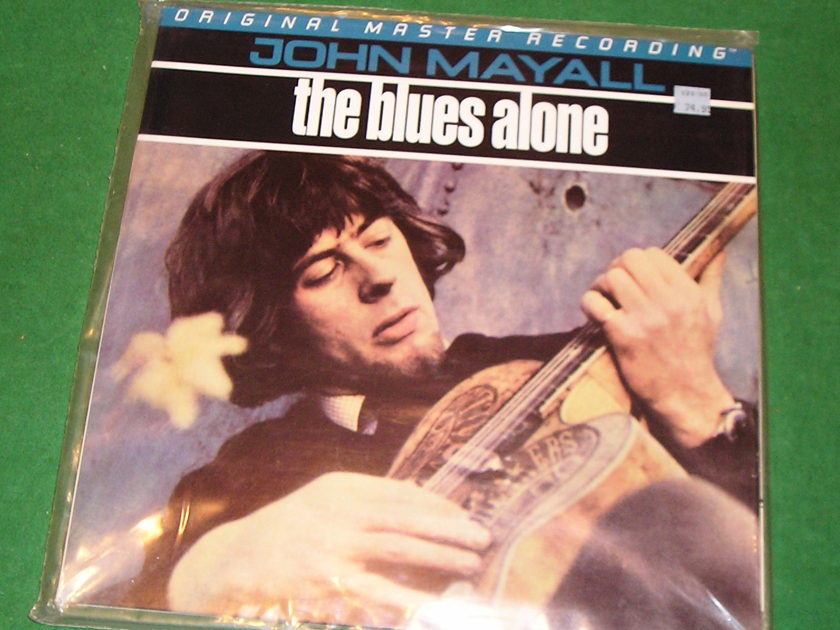 "JOHN MAYALL ""THE BLUES ALONE"" - SEALED MOBILE FIDELITY ANADISC #0349 200 GRAM PRESS"