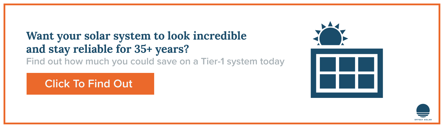 Tier 1 systems from Offset Solar last 35+ years