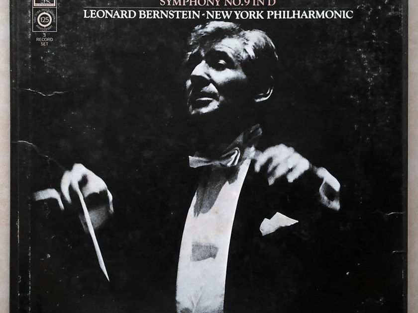 Columbia 2-eye/Bernstein/Mahler - Symphonies Nos. 6 & 9 / 3-LP Box Set / NM