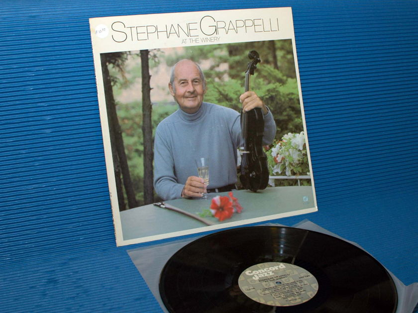 """STEPHANE GRAPPELLI -  - """"At the Winery"""" -  Concord Jazz 1981"""