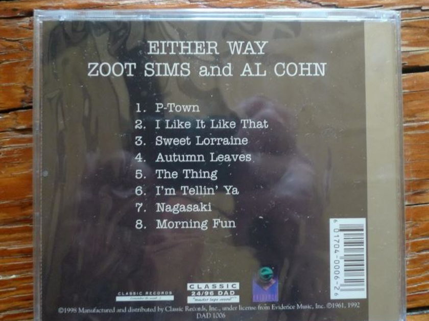 Zoot Sims & Al Cohn - Either Way Classic Records 24/96 DVD-A