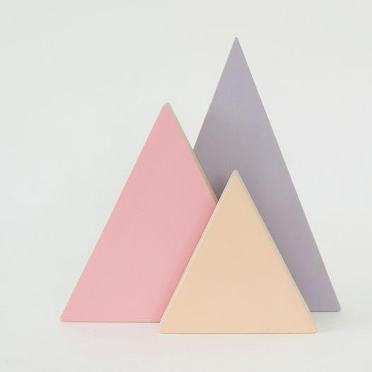 Деревянные горы (три цвета)