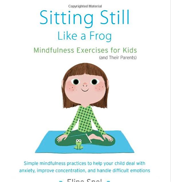book cover sitting still like a frog little girl sitting cross legged